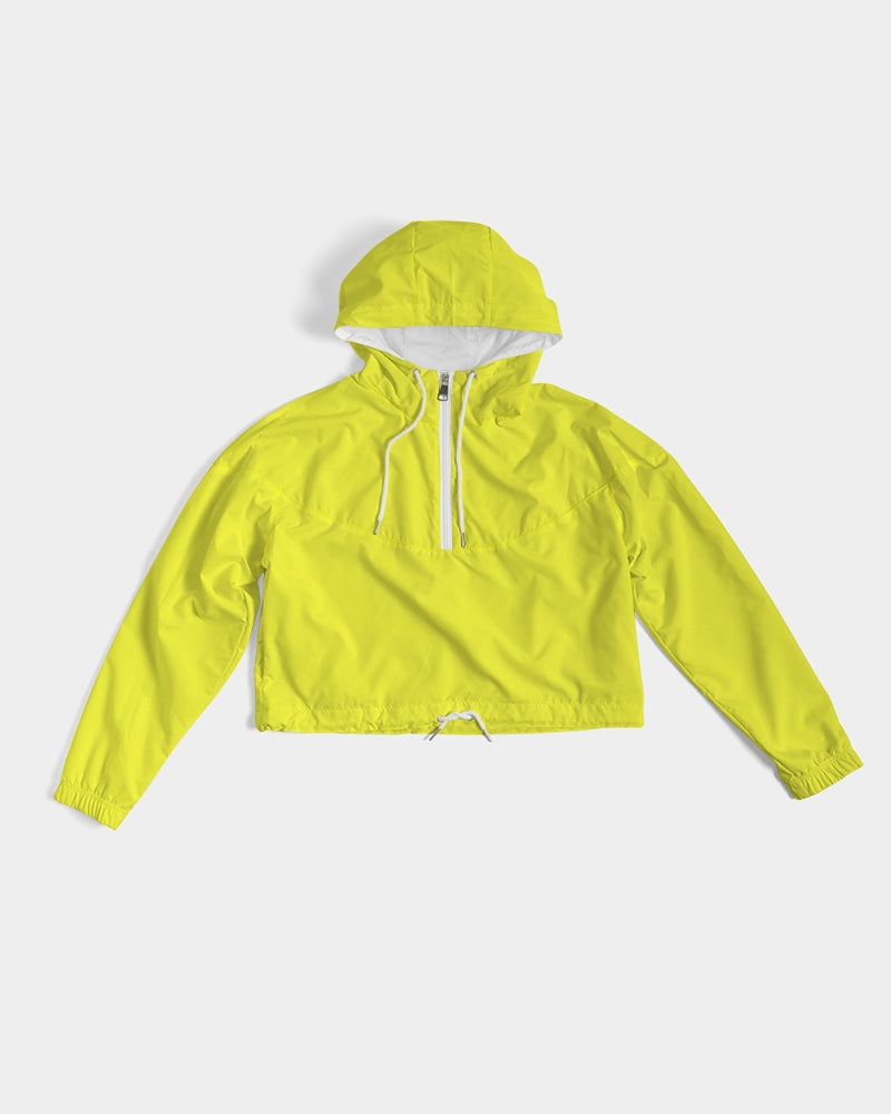 Yellow Aesthetic Women's Cropped Windbreaker