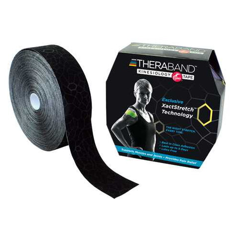 TheraBand Kinesiology TapeBulk 2  x 103.3' Black/Black