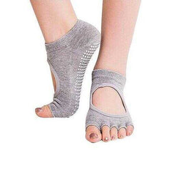 Peep Toe Yoga Socks 3 Pair Pack - Select Pack: 3 Pair Pk: B