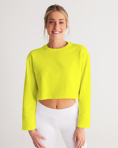 Yellow Aesthetic Women's Cropped Sweatshirt