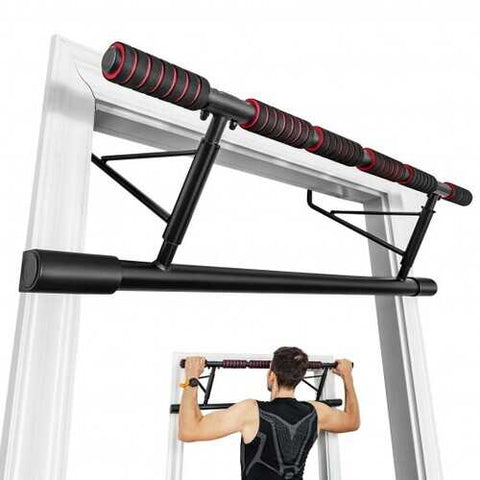 Foldable Pull Up Bar Doorway Chin Up Bar with Foam Grip for Home Gym