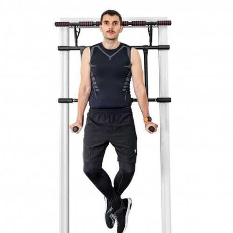 Pull Up Bar Doorway Trainer Chin Up Bar with Dip Bar