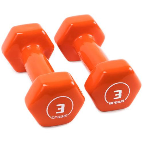 Vinyl Hex Hand Weights, 3 LB