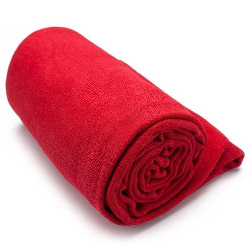 Red Non-Slip Microfiber Hot Yoga Towel with Carry Bag