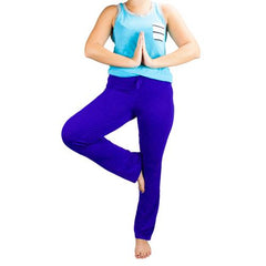 XX-Large Blue Relaxed Fit Yoga Pants