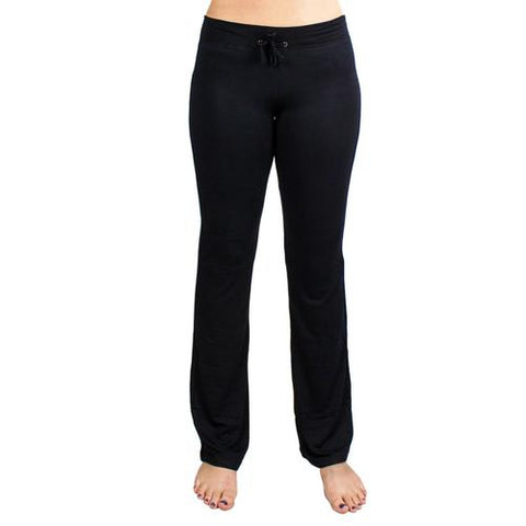 X-Large Black Relaxed Fit Yoga Pants