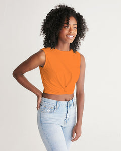 Orange Aesthetic Women's Twist-Front Tank