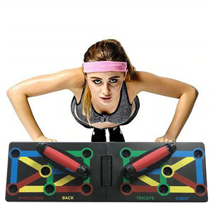 Push Up Rack Board 9 in 1 Body Building Fitness