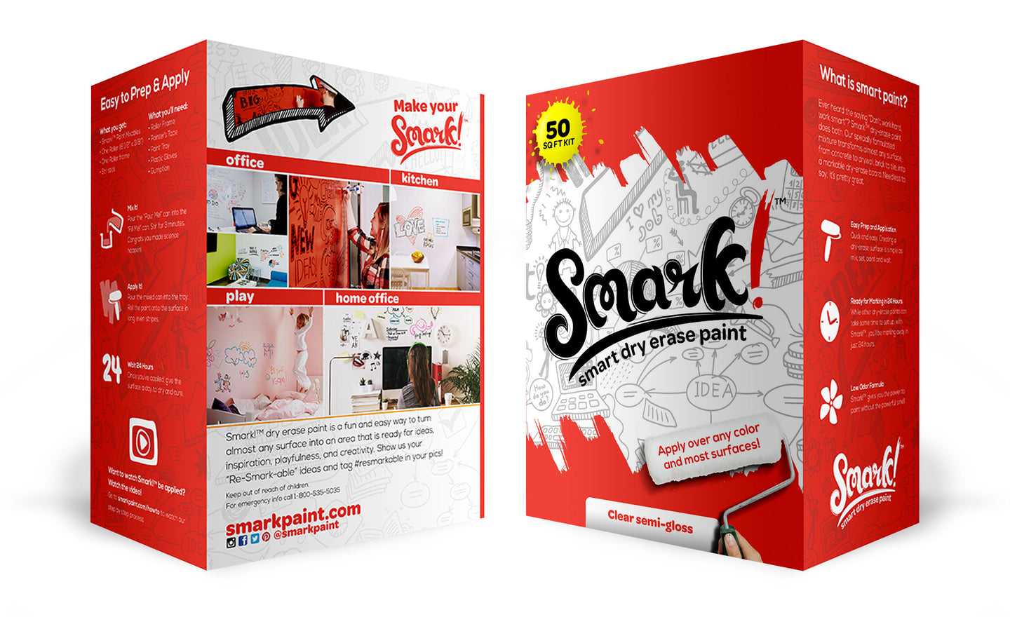 Smark! Dry Erase Paint | 50 Square Feet