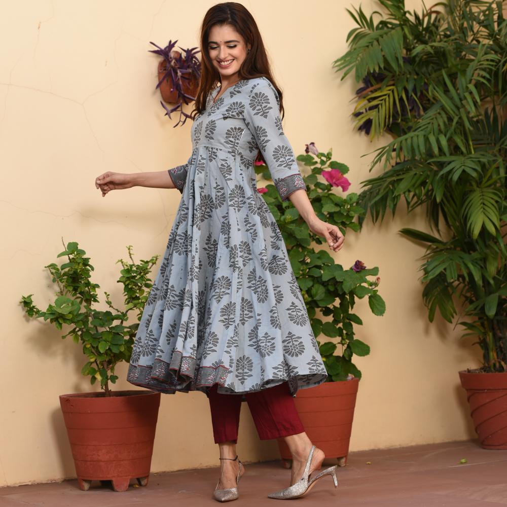 MOGRA GREY SUIT SET