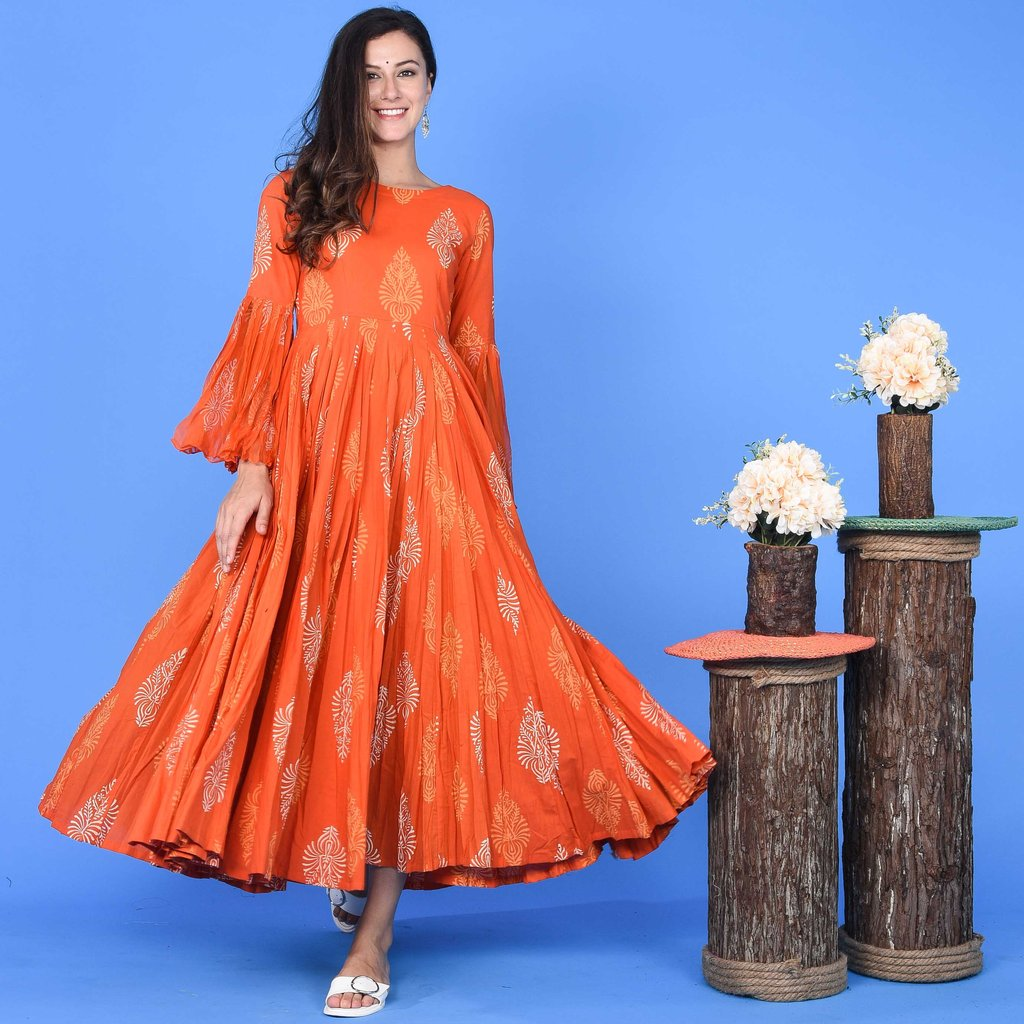 ORANGE DISCHARGE DRESS