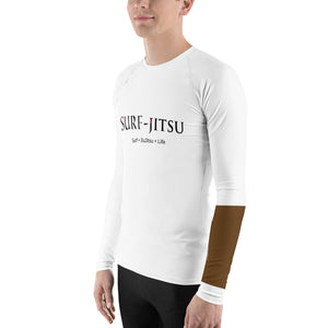 *StreetSports* Ranked Limited Edition Men's Rash Guard *Brown Belt*