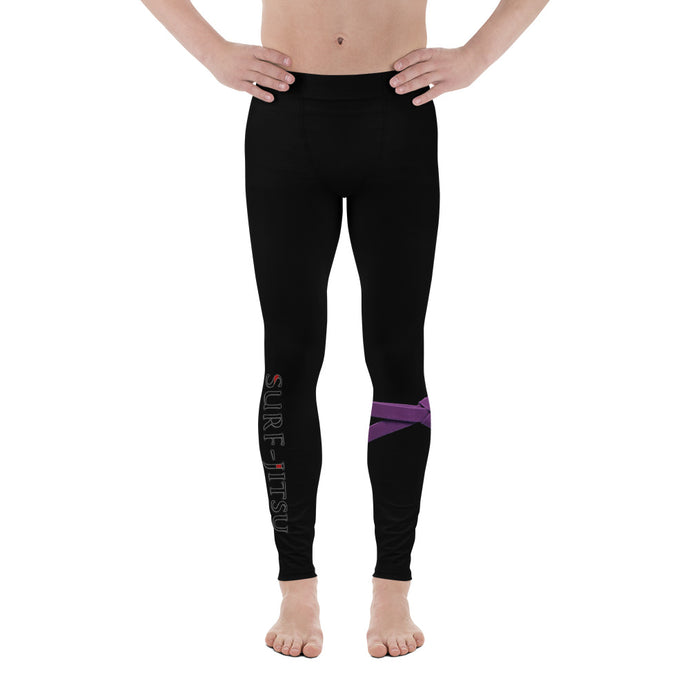 Men's Purple Belt Ranked Compression Pant Leggings