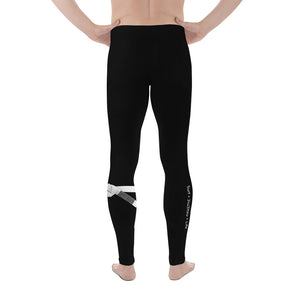 Men's White Belt Ranked Compression Pant Leggings
