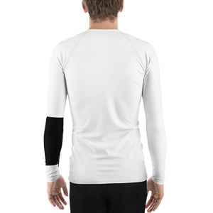 Men's Ranked BJJ or Surfing Surf-Jitsu Rash Guard - Black Belt on White