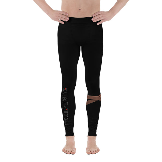 Men's Brown Belt Ranked Compression Pant Leggings