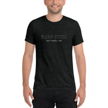 Load image into Gallery viewer, Surf + JiuJitsu = Life Short sleeve tri-blend t-shirt