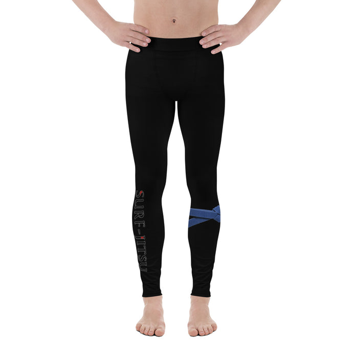 Men's Blue Belt Ranked Compression Pant Leggings