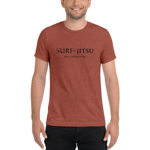 Surf + JiuJitsu = Life Short sleeve tri-blend t-shirt