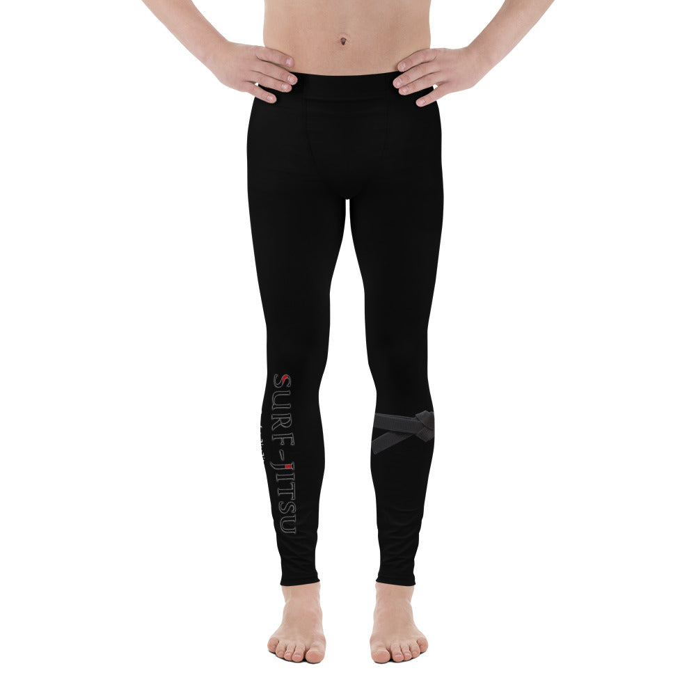 Men's Black Belt Ranked Compression Pant Leggings