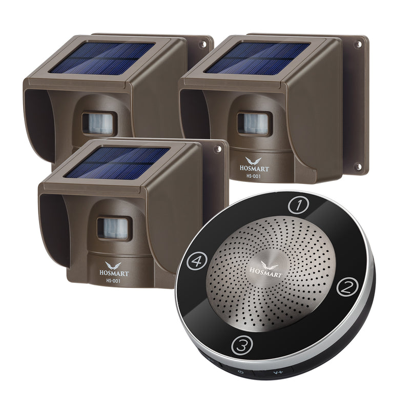 1/2 Mile Outdoor Weather Resistant Motion Sensor & Detector-NO DIY Hosmart Long Range Security Alert System-Monitor & Protect Outside Property Solar Wireless Driveway Alarm