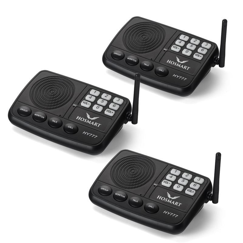 Hosmart  7-Channel Wireless Intercom System 1/2 Mile LONG RANGE Security Intercom System for Home or Office