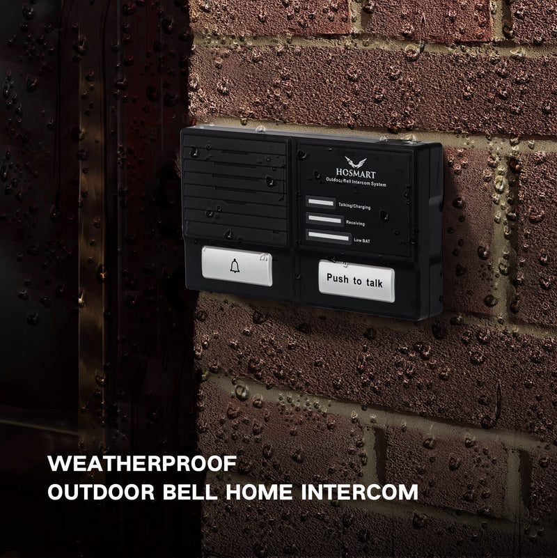 Wireless Doorbell and Intercom System-Weather/Waterproof  Hosmart 1500FT  Doorbell Intercom System