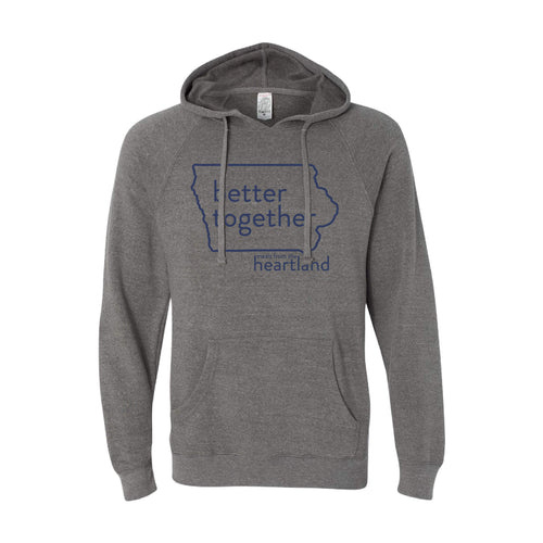 Better Together Pullover Hoodie Navy Print