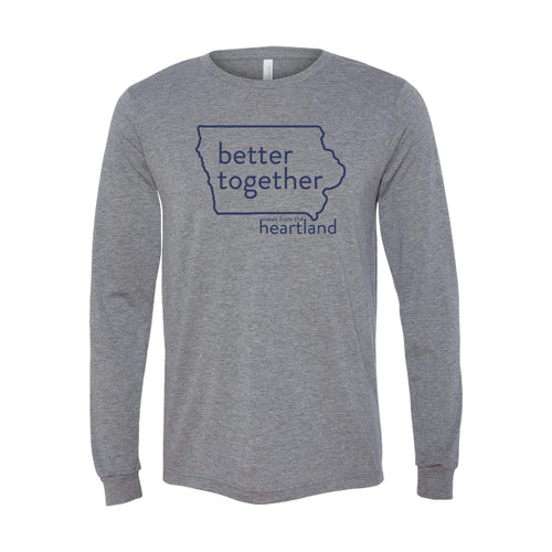 Better Together Long Sleeve T-Shirt Navy Print