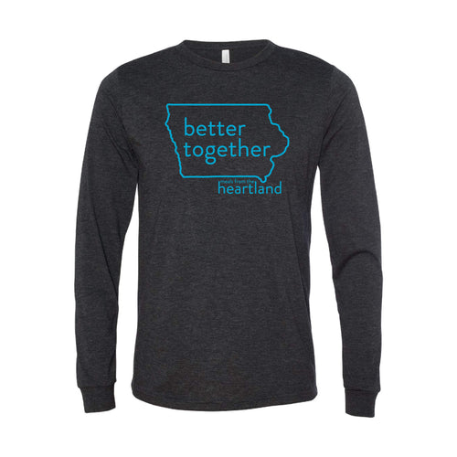 Better Together Long Sleeve T-Shirt Bright Blue Print
