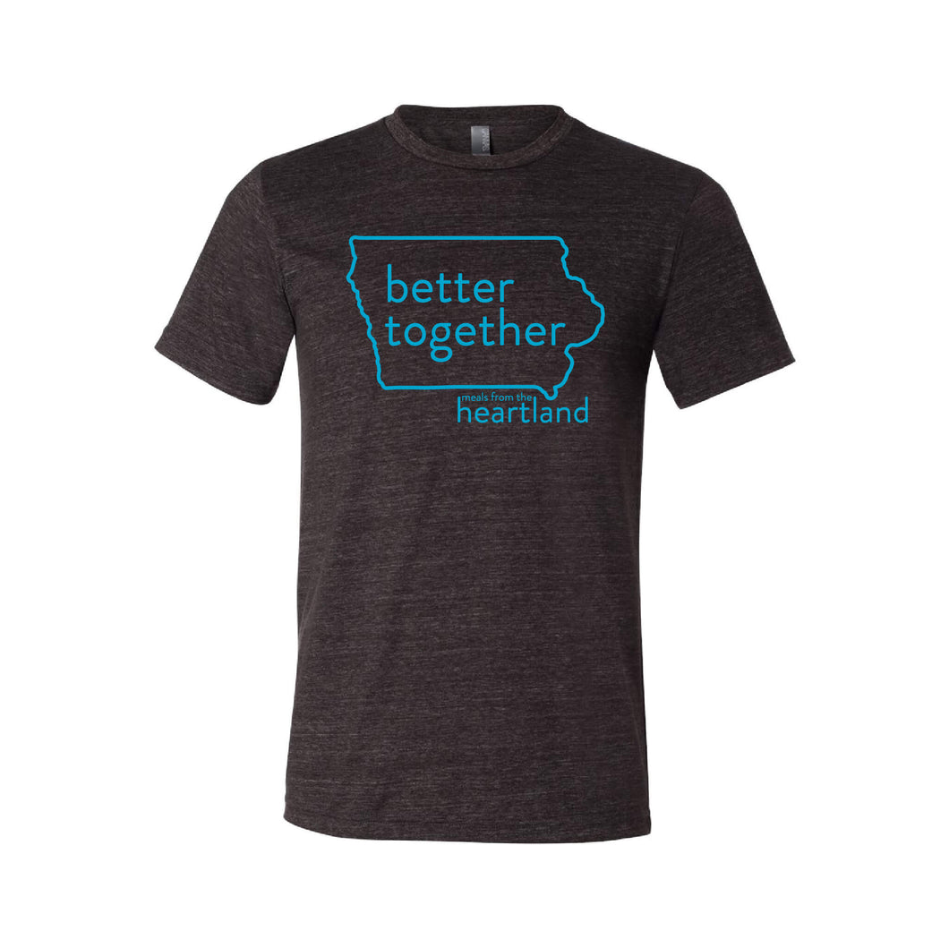 Better Together Unisex T-Shirt Bright Blue Print
