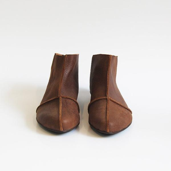 e7910df8bc3 Brown leather cross boots. 4601