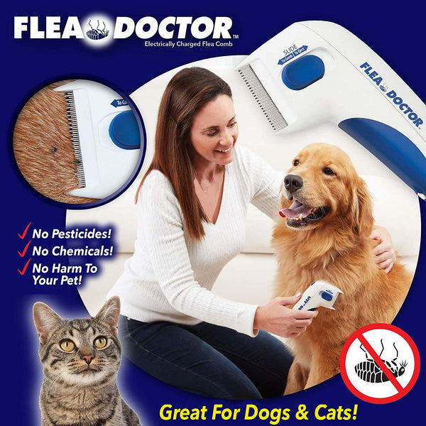 Original Flea Doctor Electronic Comb For Dogs & Cats