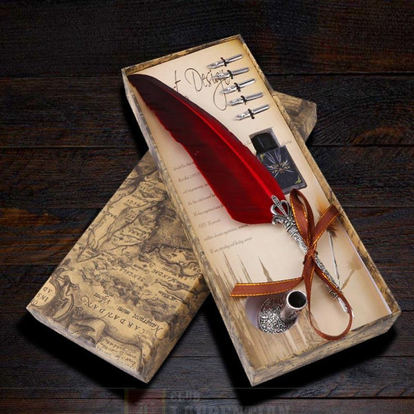 Classic Feather Quill Pen Set
