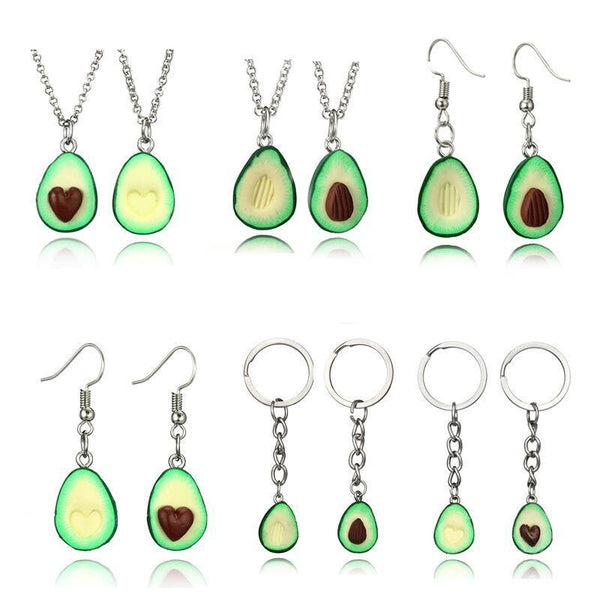 2019 New Cute Avocado Heart Shape Necklace