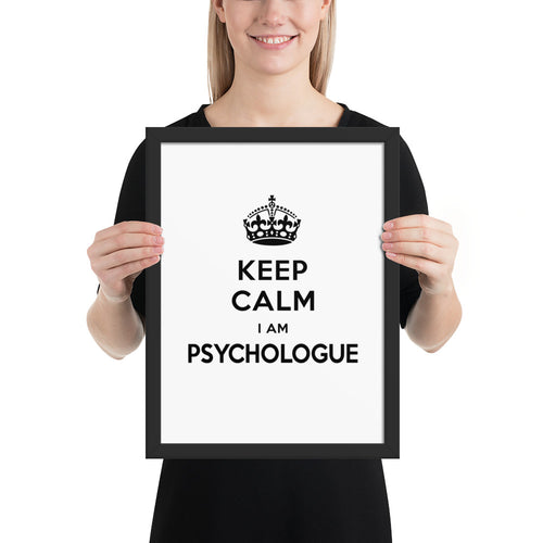 Affiche A3 encadrée Keep Calm - Comptoir des Psychologues