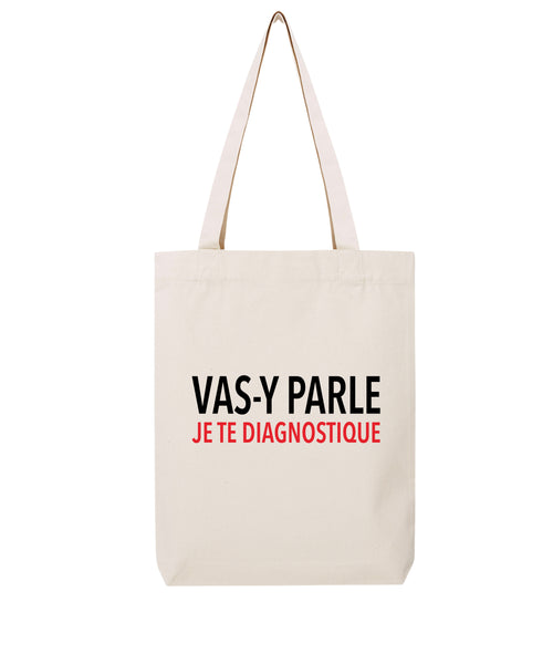 Tote bag Je te diagnostique - Comptoir des Psychologues