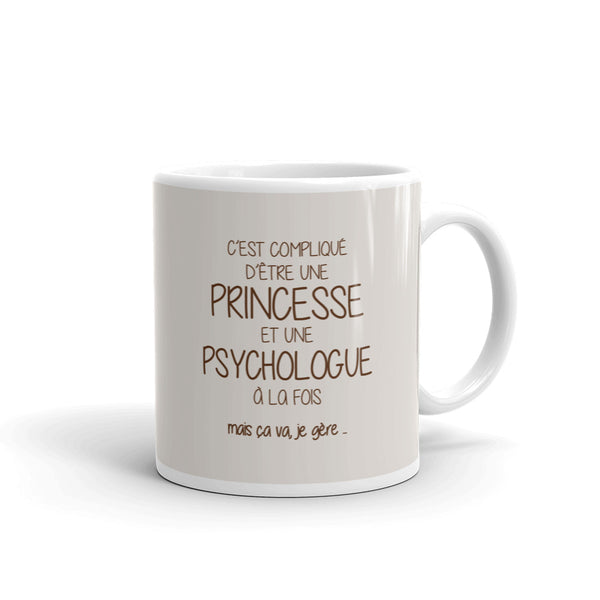 Mug Princesse Psychologue - Comptoir des Psychologues