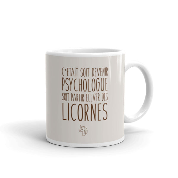 Mug Licorne Psychologue - Comptoir des Psychologues