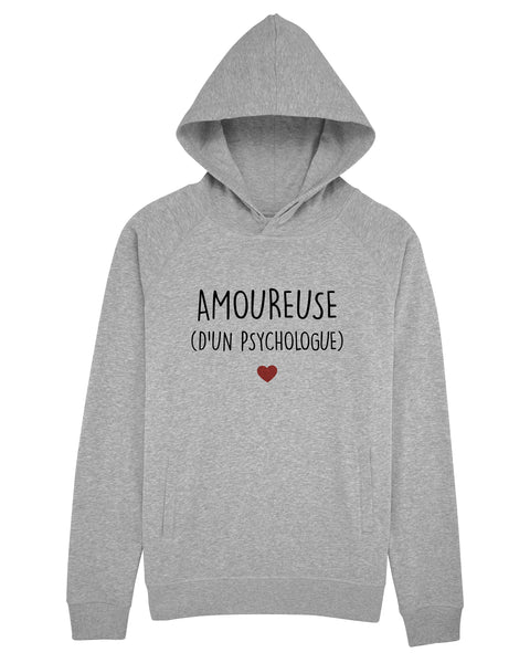 Sweat capuche Amoureuse Psychologue - Comptoir des Psychologues