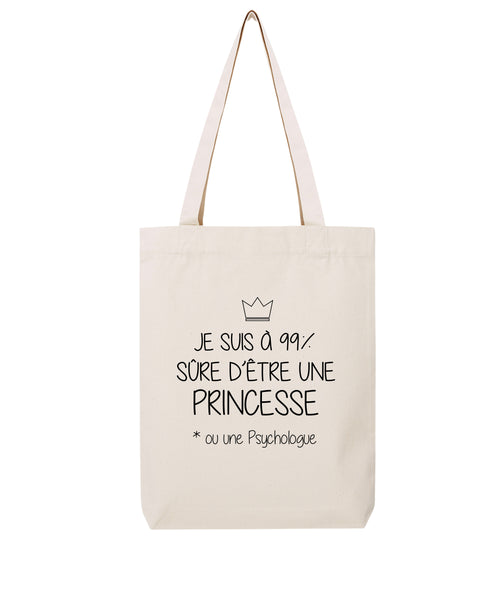 Tote bag Princesse 99% - Comptoir des Psychologues