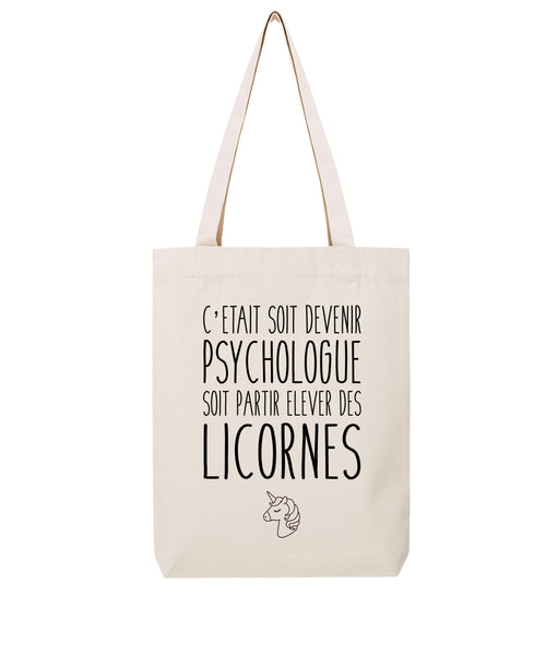 Tote bag Licorne Psychologue - Comptoir des Psychologues
