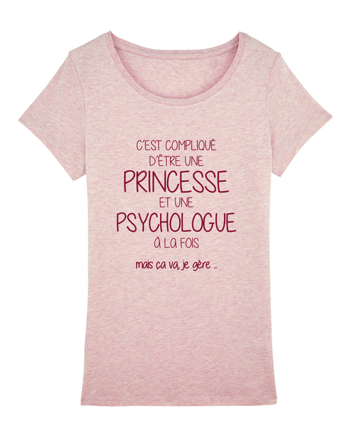 T-shirt Princesse Psychologue - Comptoir des Psychologues