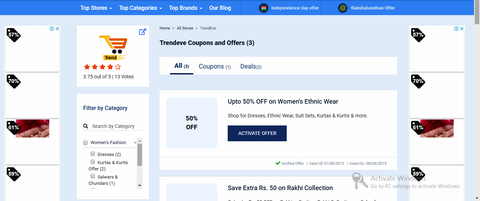 Online shopping Coupon Couponraja