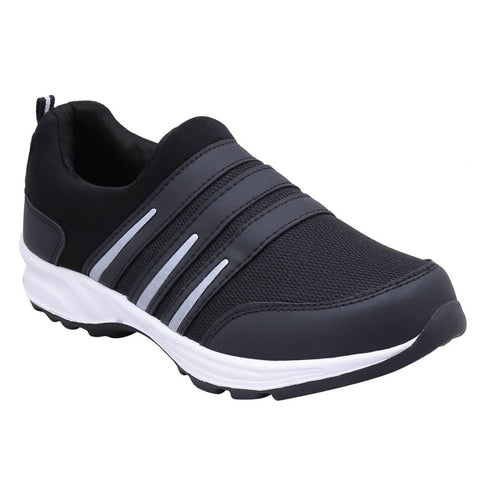 Men's Mesh Black Sports Running Shoes - Trend Eve