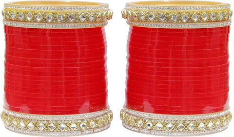 Red Brass Contemporary Bangles