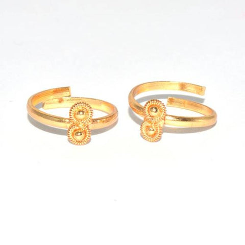 Golden Gold Plated Toe Ring