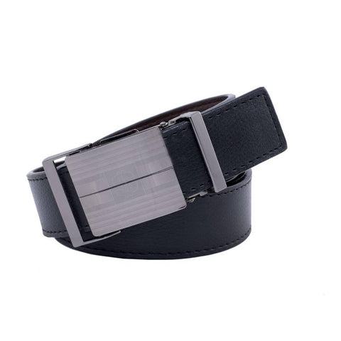 Black Leatherette Formal Belt For Men's