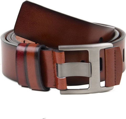 Brown Leatherette Casual Belt For Men's
