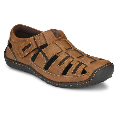 Men's Tan Synthetic Comfort Sandal - Trend Eve